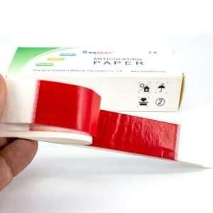 papel aricular recto rojo