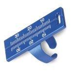 Regla Endo Aluminio color azul marca woodpecker