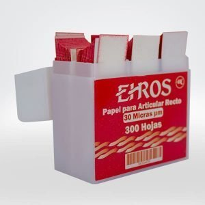 Papel Articular Recto 30 Micras color rojo