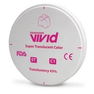 Disco Zirconio Super Translucido ST Color C1
