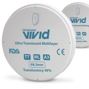 Disco Zirconio Ultra Translucido Multicapa Color A3