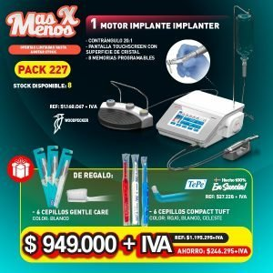 1 Motor Implantes Implanter Woodpecker + Regalos cepillos Tepe