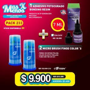 adhesivo fotocurado 2 microbrus azules