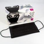 Mascarilla negra con caja