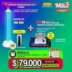 [PACK257] 1 Lámpara desinfectante UV-C Ozono + 10 Pack Toallas Desinfectantes Superficies + Letrero