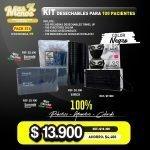 [PACK276C] Kit Desechables Negro para 100 Pacientes
