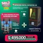 [PACK275] 1 Impresora Digital 3D Photon + 3 Resinas UV 3D LCD Anycubic