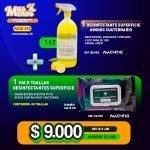 [PACK278] 1 lt Desinfectante Superficie Amonio Machtig + 1 Pack Toallas Desinfectantes Superficies