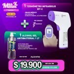 [PACK280] 1 Termómetro Infrarrojo WT-2 Woodpecker + 1 Alcohol gel Antibacterial Machtig