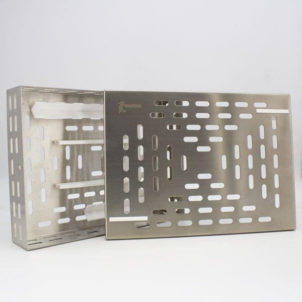Caja para Esterilización Piezo Surgic Touch Woodpecker abierta