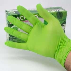Guantes de Nitrilo Biodegradable Verde Machtig