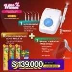 1 Ultrasonido UDS-K led Woodpecker + 8 Cepillos Good Regular Tepe + 1 Protector facial Face shield ZT Dental