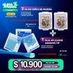 2 Cajas Cuñas de Madera surtidas +1 Caja Aplicador Adhesive Tip Cotisen