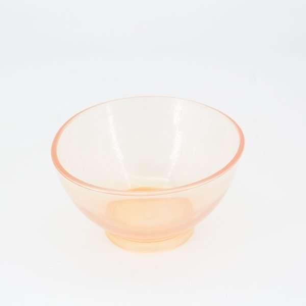 Taza de Silicona pequeña transparente naranja