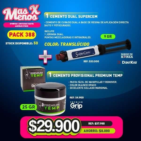 1 Cemento dual Supercem Translucido Dentkist + 1 Cemento Provisional Premium Temp Premium grip