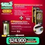 2 Kit Gel Blanqueamiento Office Bright 35% +1 Jeringa Desensibilizante Premium Desensitizer 2% Premium grip