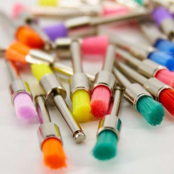 Escobillas para Profilaxia Colors Neon Penacho Nylon ZT Dental