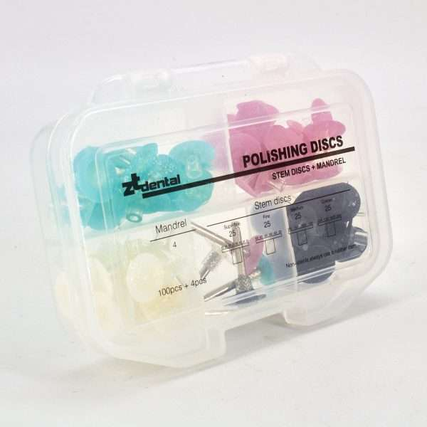 Kit Discos Pulido x 100 Uni. + 4 Porta Discos ZT Dental
