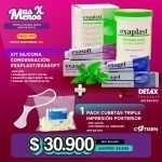1 Kit Silicona Condensación Exaplast-Exasoft Detax +1 Pack Cubetas Triple Impresión Posterior sin lado Cotisen