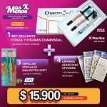 1 Set Sellante Fosas y Fisuras CharmSeal Dentkist + 3 Cepillos Dental Mini Extra Soft Tepe + 4 Láminas Stickers Muelita