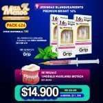 9 Jeringas Blanqueamiento Premium Bright 16% Premium grip + 1 Modelo maxilares Biotech